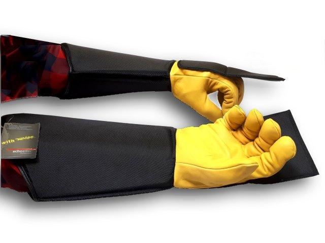 Schutzhandschuhe H4, lang mit Bissplatten